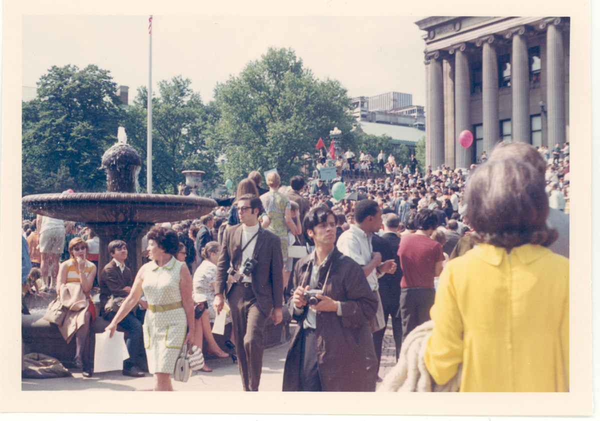 1968 Counter Commencement - Woman in Yellow Dress<br />
