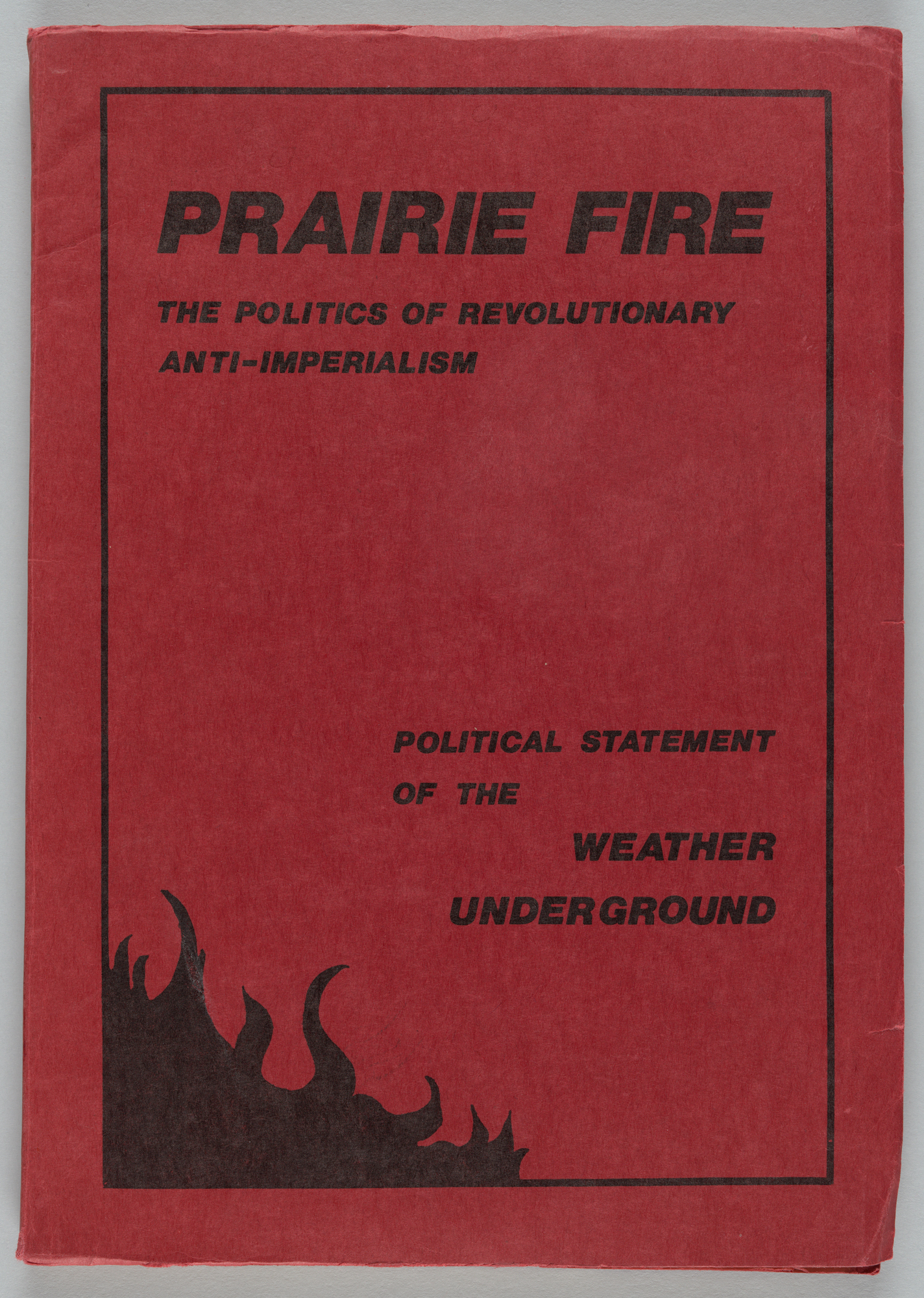 Prairie Fire: The Politics of Revolutionary Anti-Imperialism, Cover
