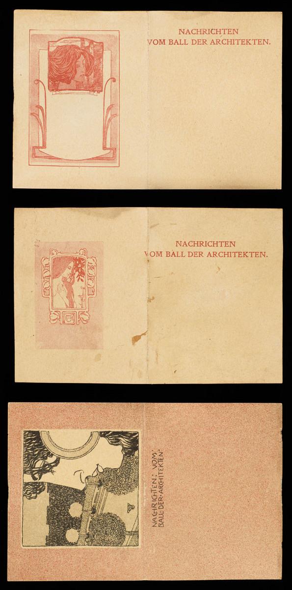 Ball der Architekten 24. Jan. 98.  View of cards taken out of holder
