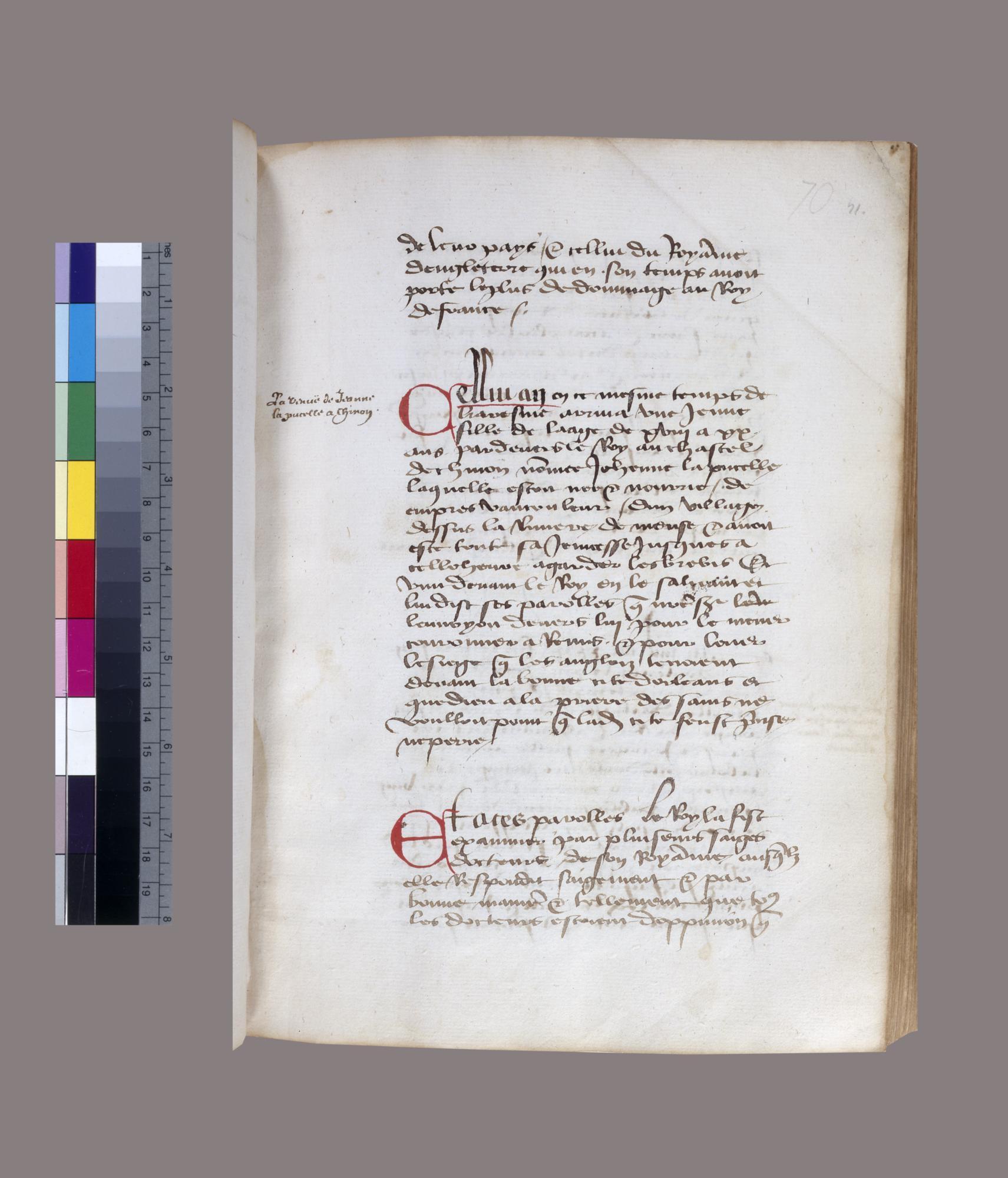 Chronique des rois Charles 6 et 7 conformé  aux troubles d'aujourduy