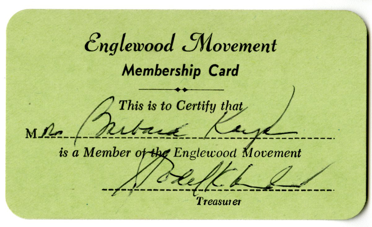 Englewood Movement Membership Card