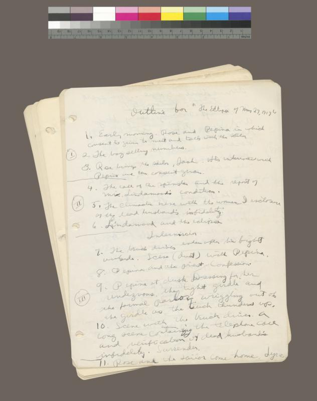 Early draft of The Eclipse of May 29, 1919 [The Rose Tattoo]