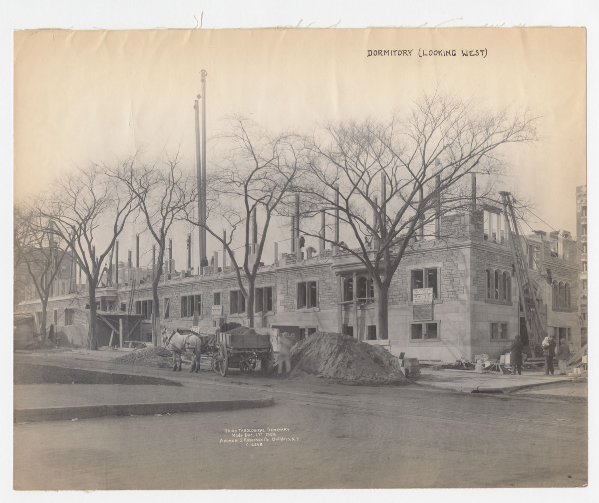 Union Theological Seminary C.6868. Dormitory (looking west)
