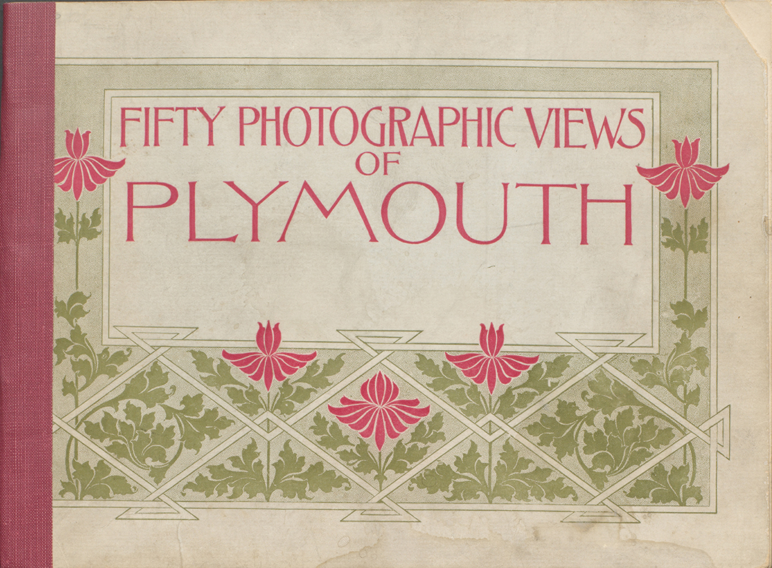 Fifty photographic views of Plymouth. Cover.
