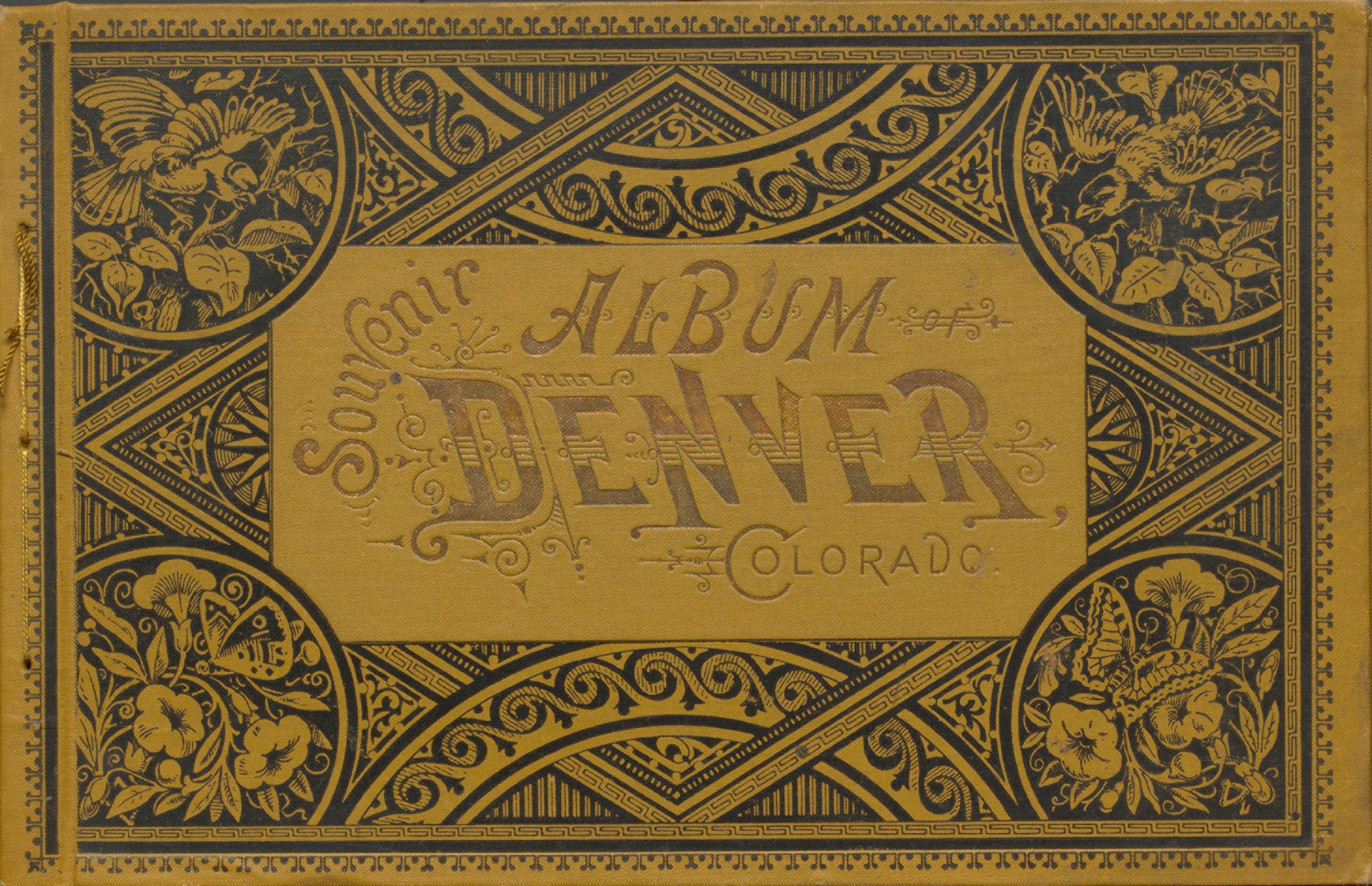 Souvenir Album of Denver Colorado. Cover.