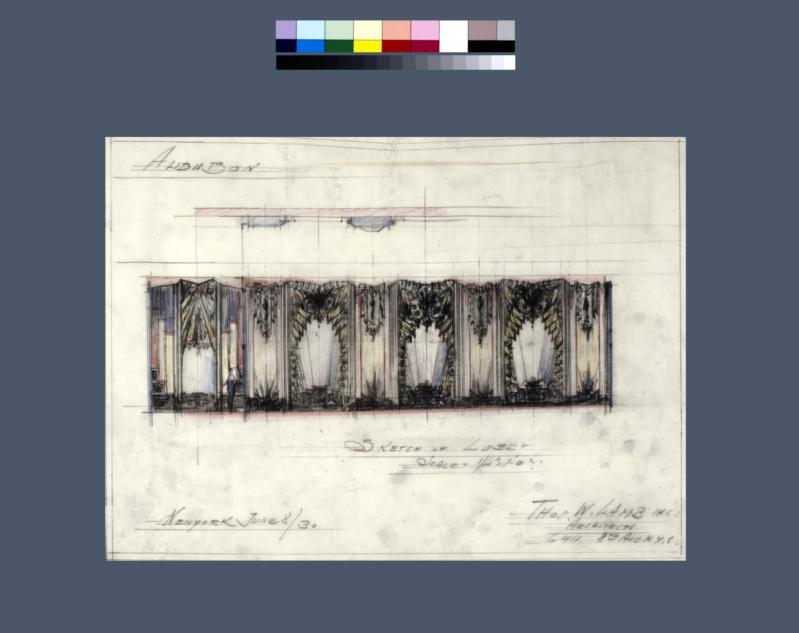 Drawing for a proposed new lobby, Audubon Ballroom, New York City