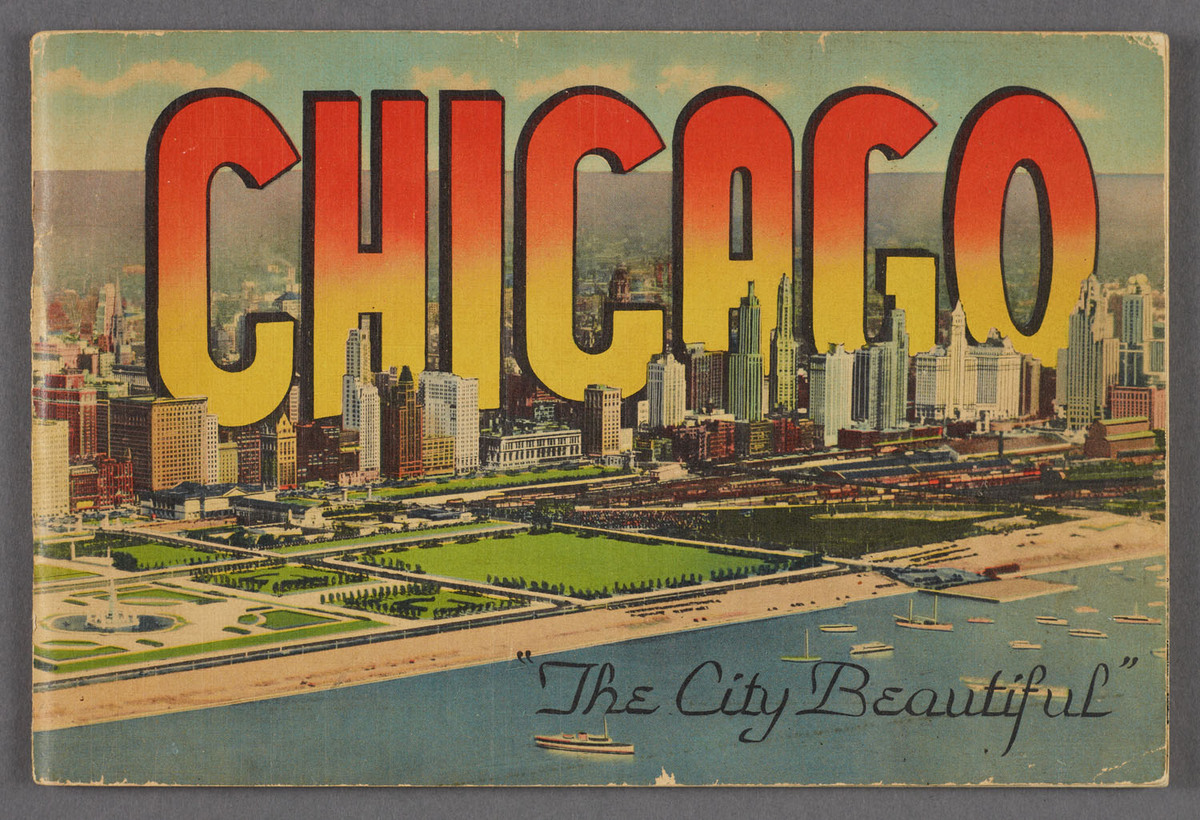 Chicago, the city beautiful. Cover of viewbook