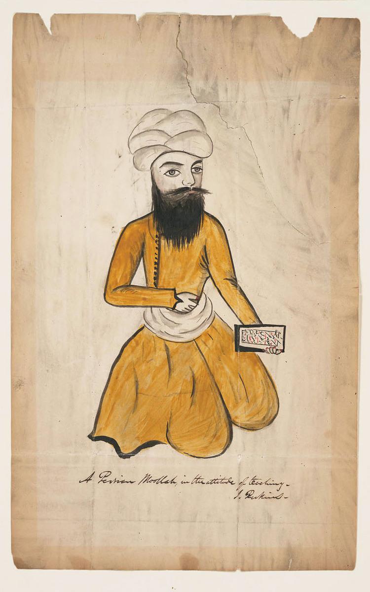Persian moolah in the attitude of teaching