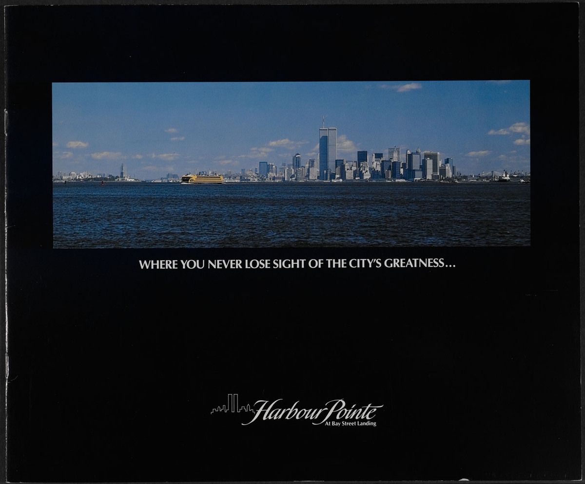 Harbour Pointe at Bay Street Landing. Cover of brochure