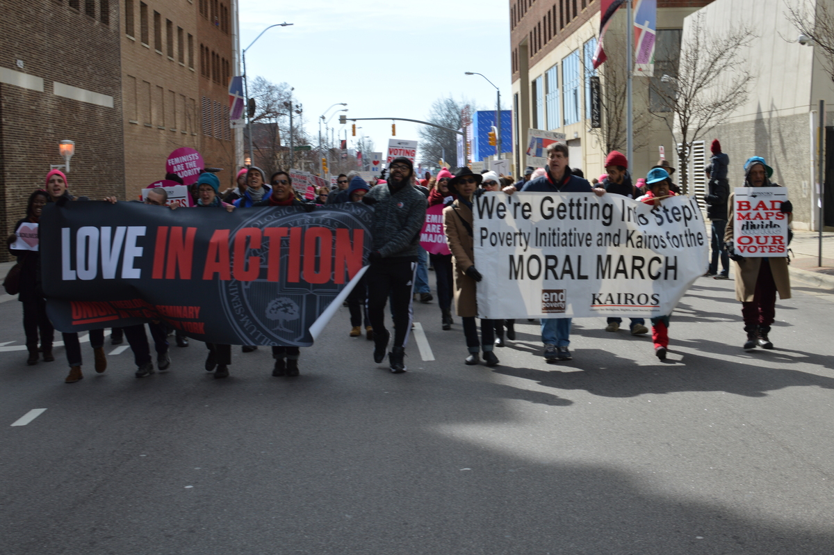 Kairos Center delegation in the 2015 Moral March in Raleigh, NC