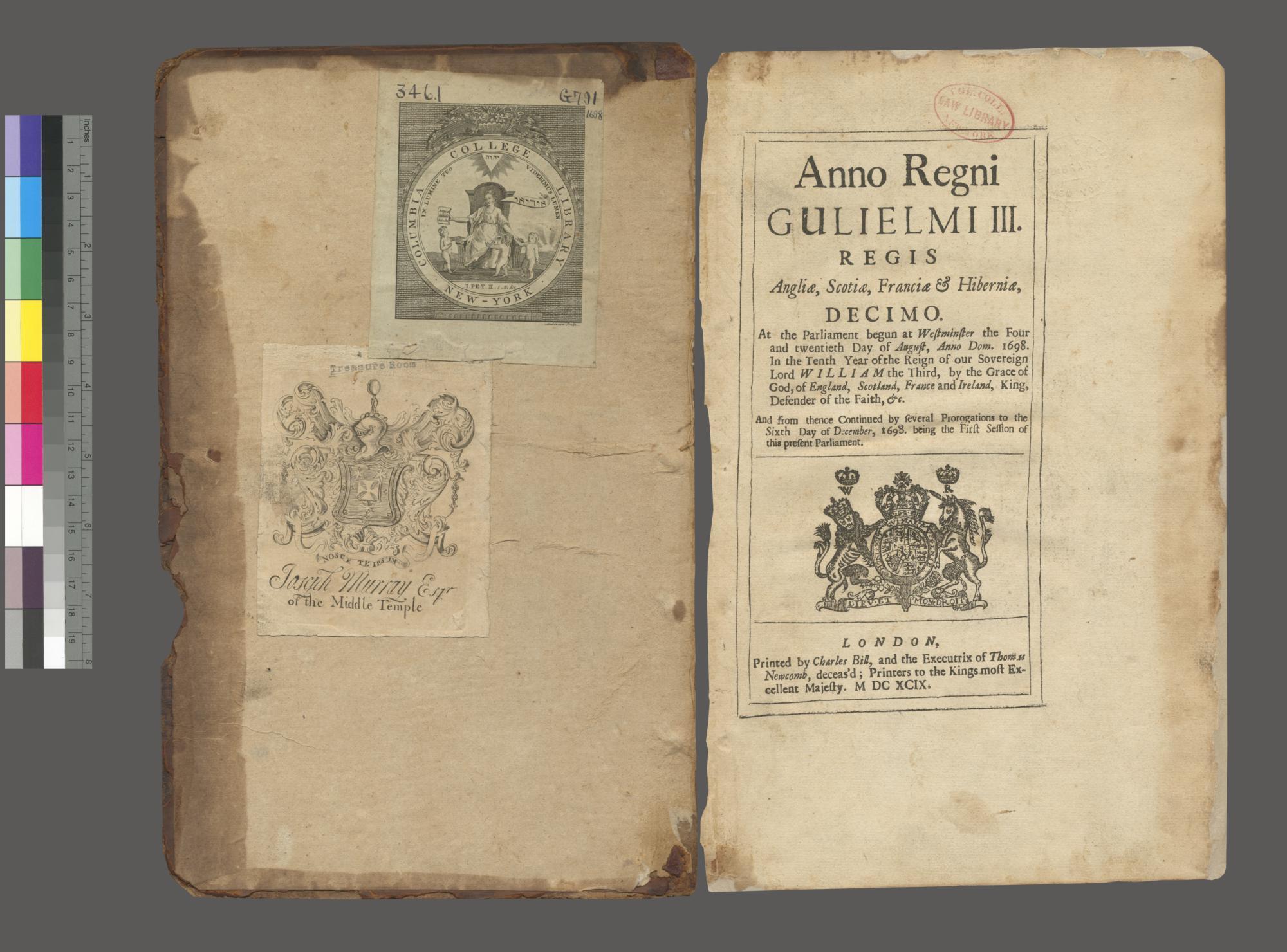 Anno regni Gulielmi III Regis Angliae, Scotiae, Franciae & Hiberniae, Decimo