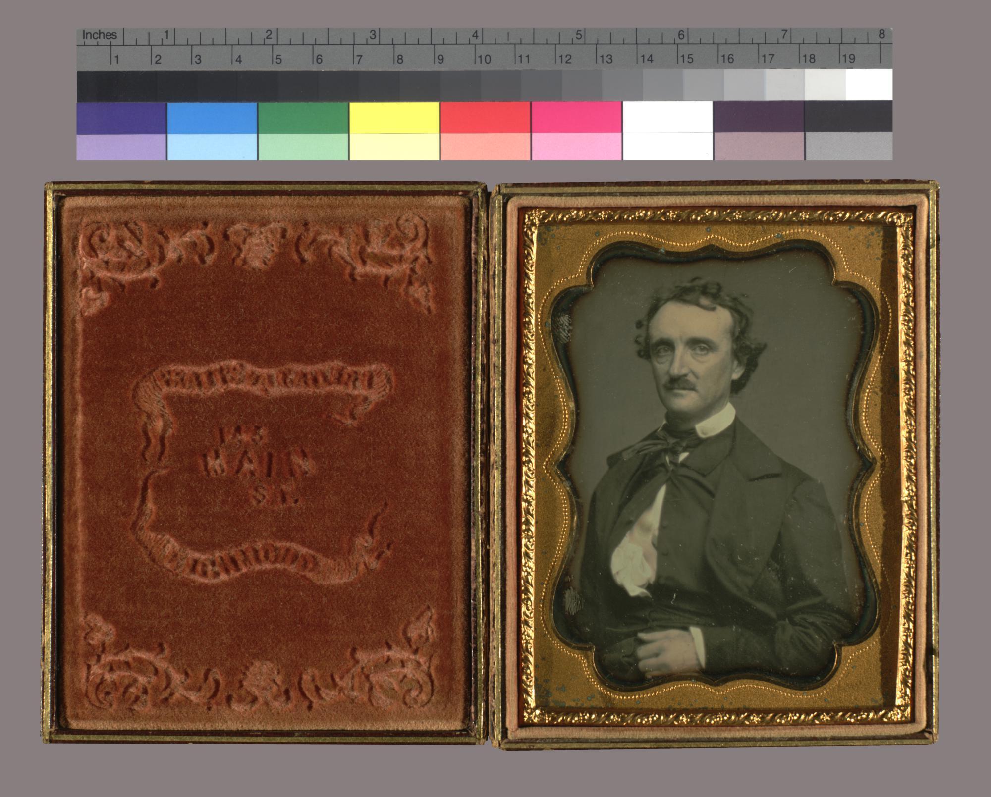 Daguerreotype portrait of Edgar Allan Poe