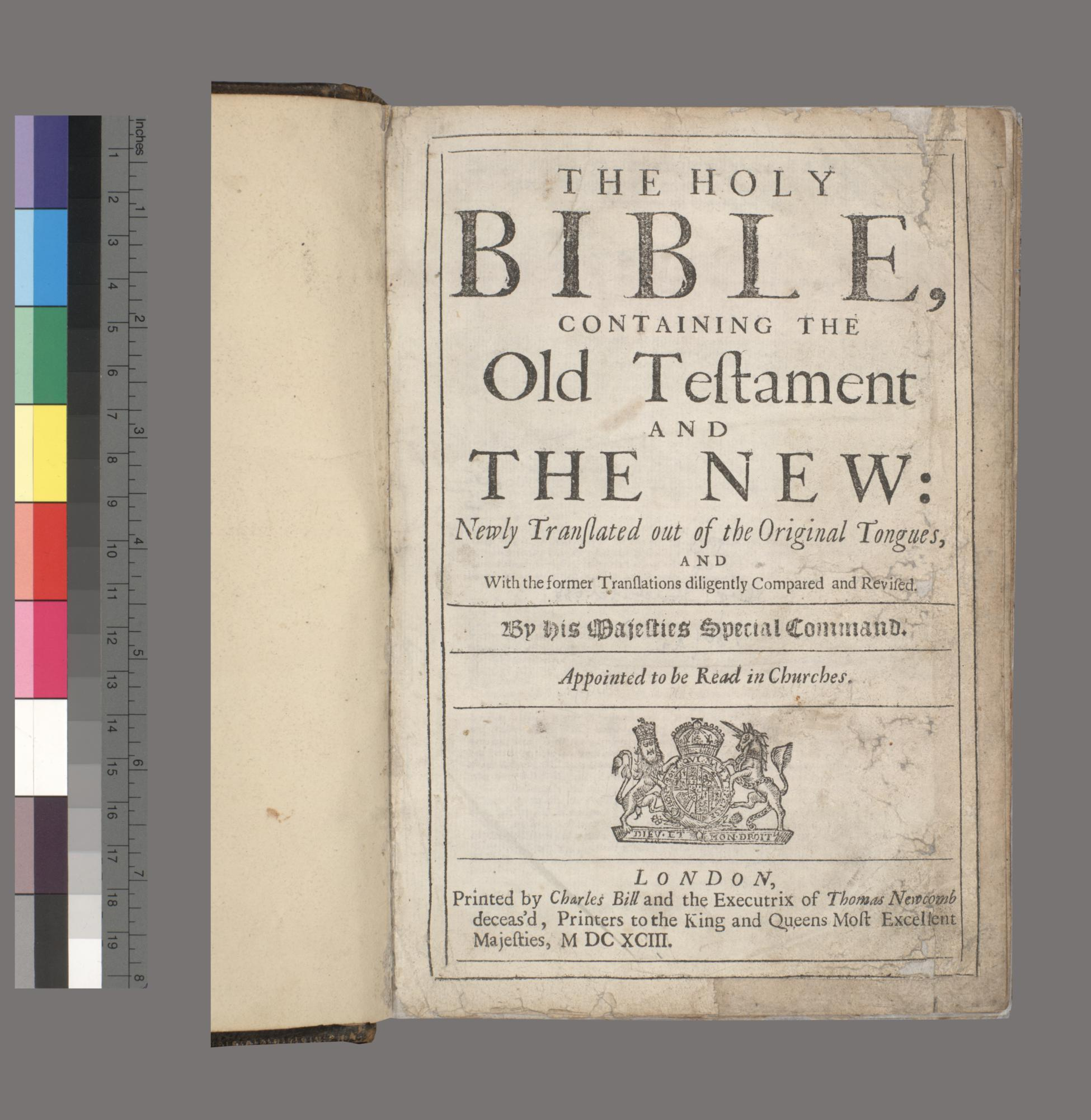 Holy Bible, containing the Old Testament and the New