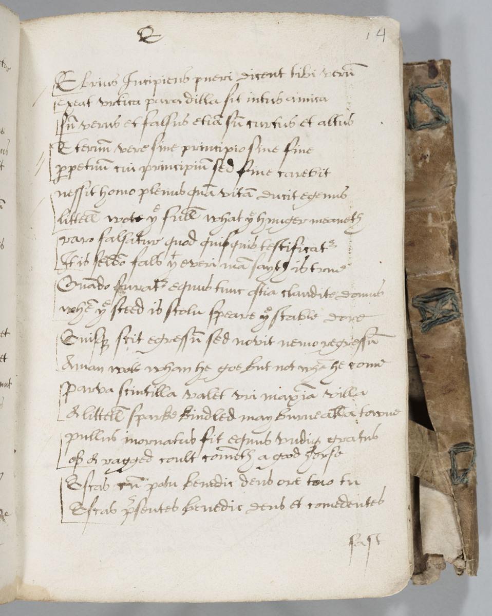 Fifteenth-Century Commonplace Book, Folio 14r