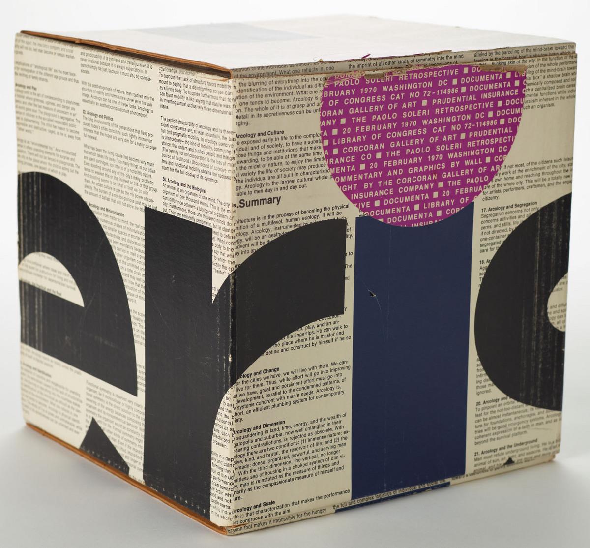 Documenta; the Paolo Soleri retrospective. View of case closed