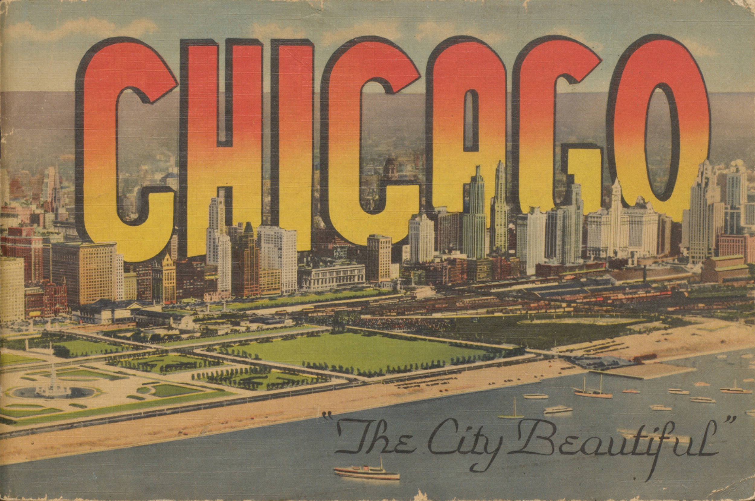 Chicago, the city beautiful. Cover.