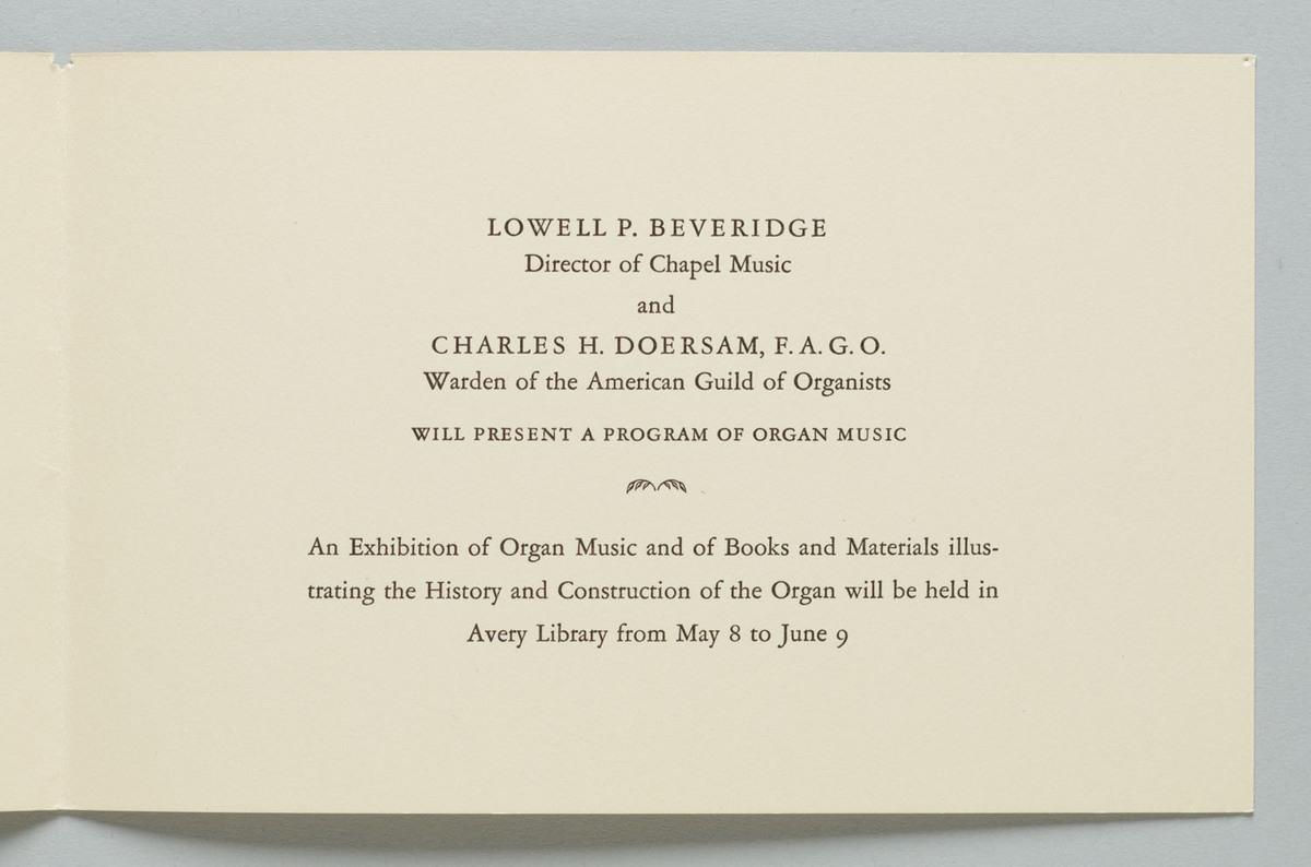 Service of Dedication of the New Organ in St. Paul's Chapel, Page 2