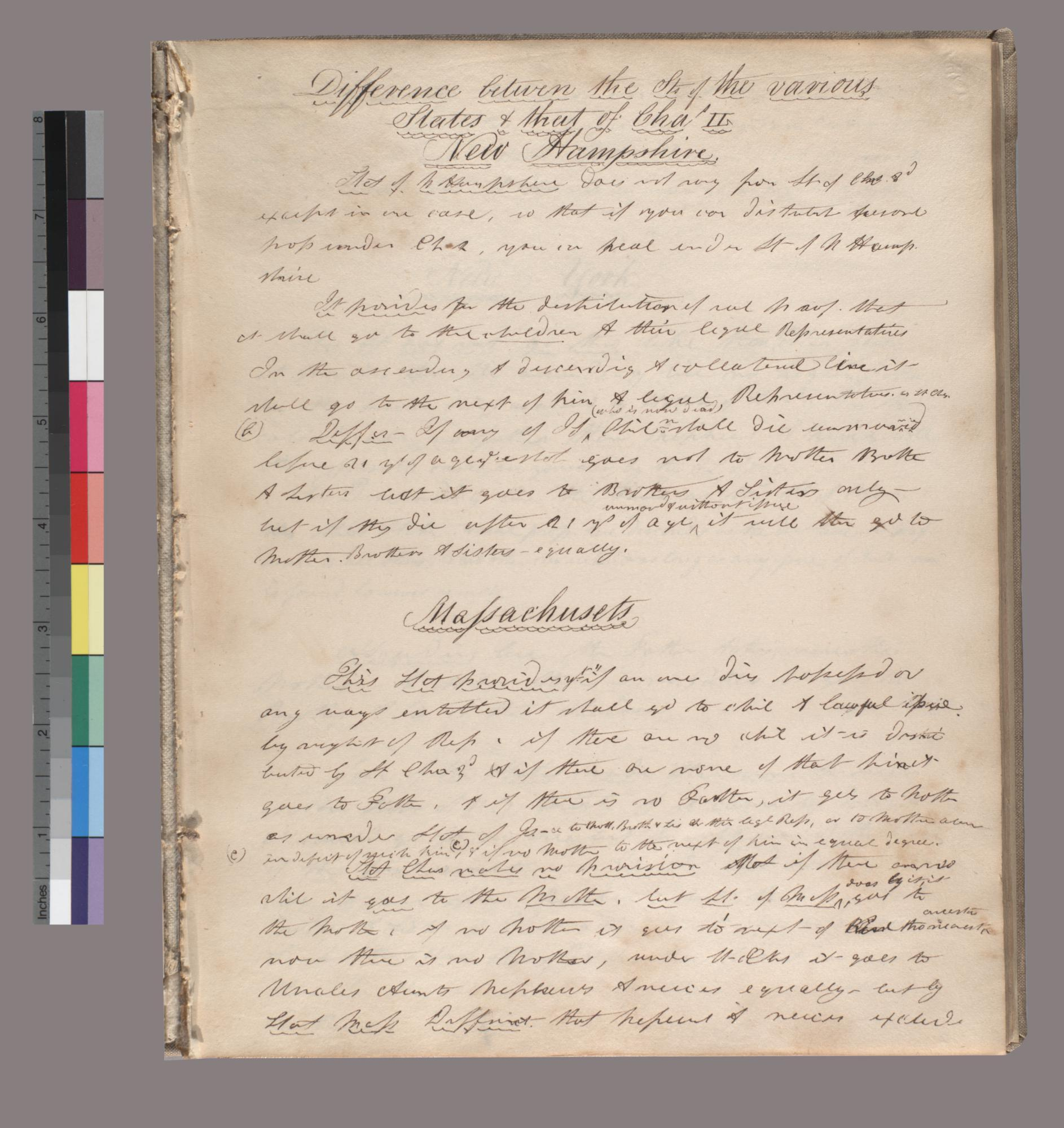 Litchfield notebook of law lecture courses