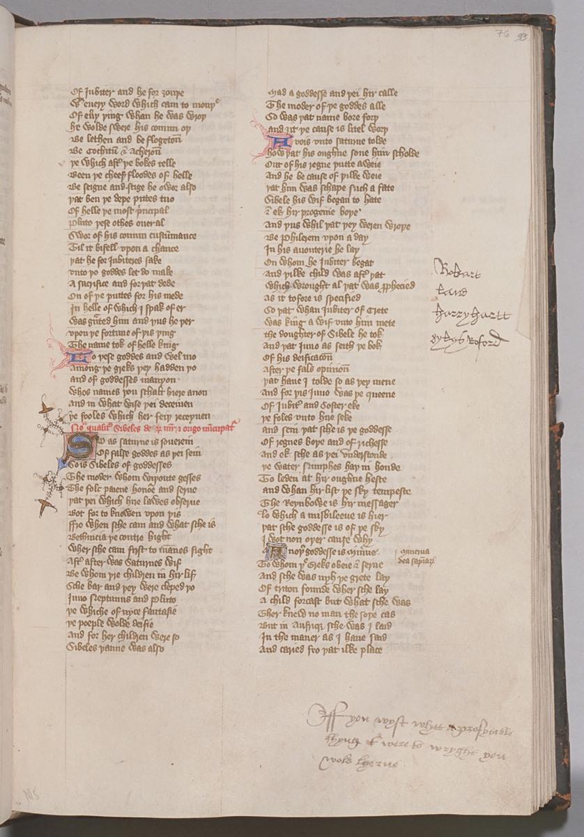 Confessio Amantis, Folio 76r