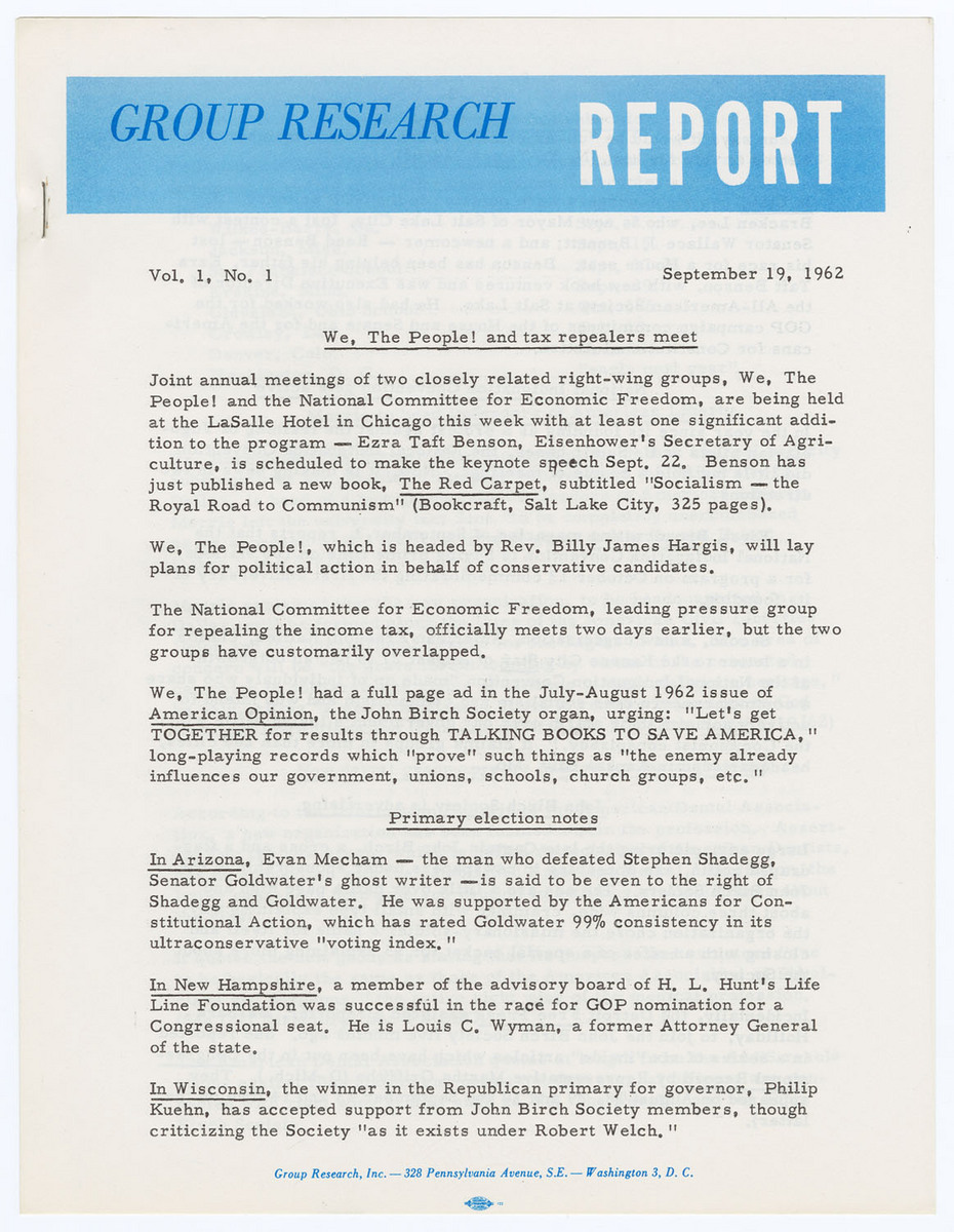 Group Research Report, Vol. 1, No. 1, page 1