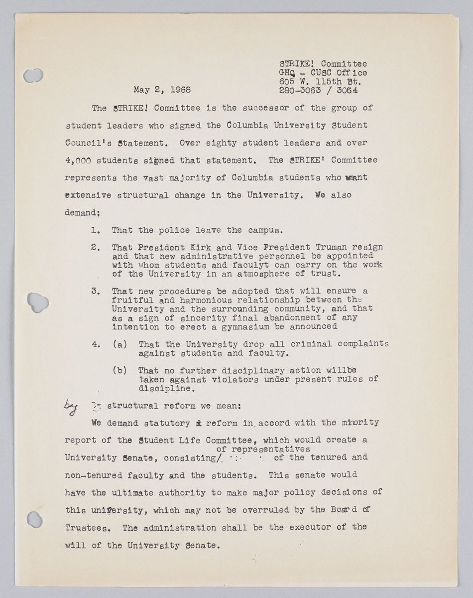 Letter from STRIKE! Committee, dated 2/5/1968
