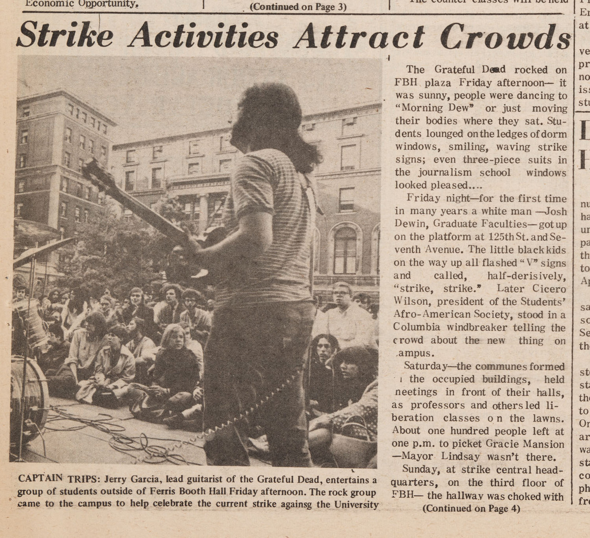 """Strike Activities Attract Crowds"", p.1 and 4"