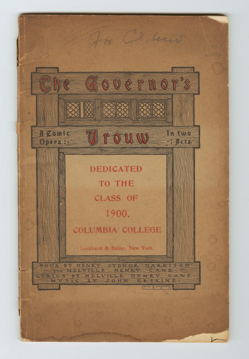 The Governor's Vrouw libretto cover