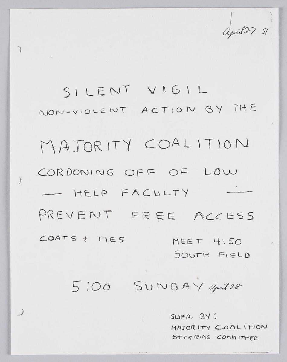 Silent Vigil Circular