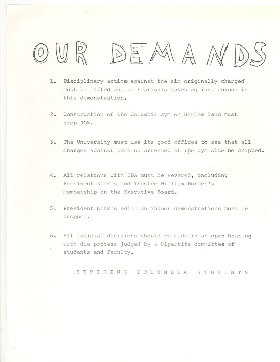 """Our Demands"""