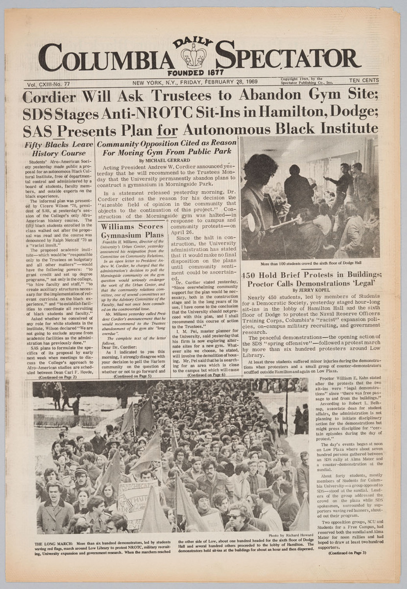 Columbia Daily Spectator, 2/28/69