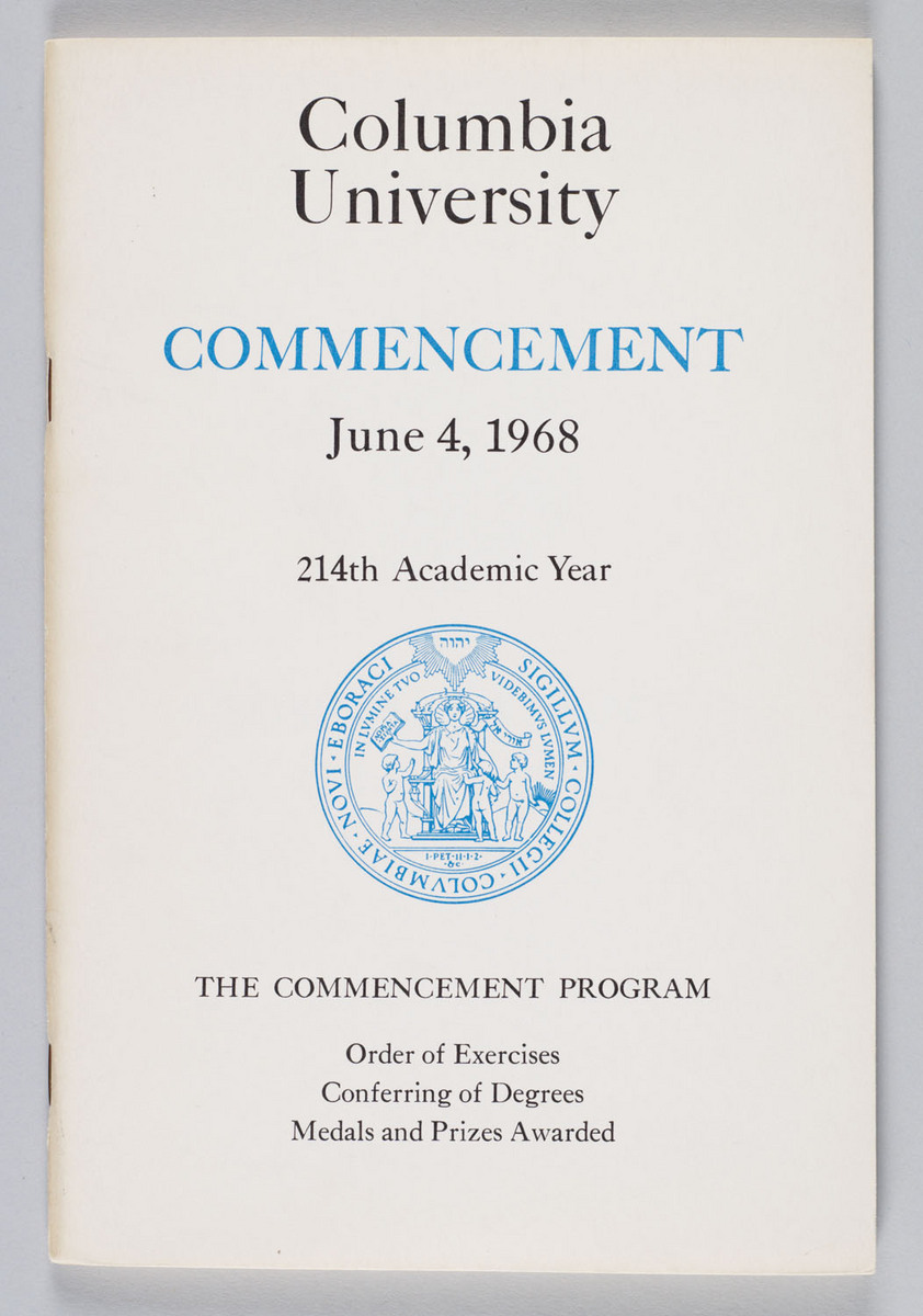 1968 Commencement Program