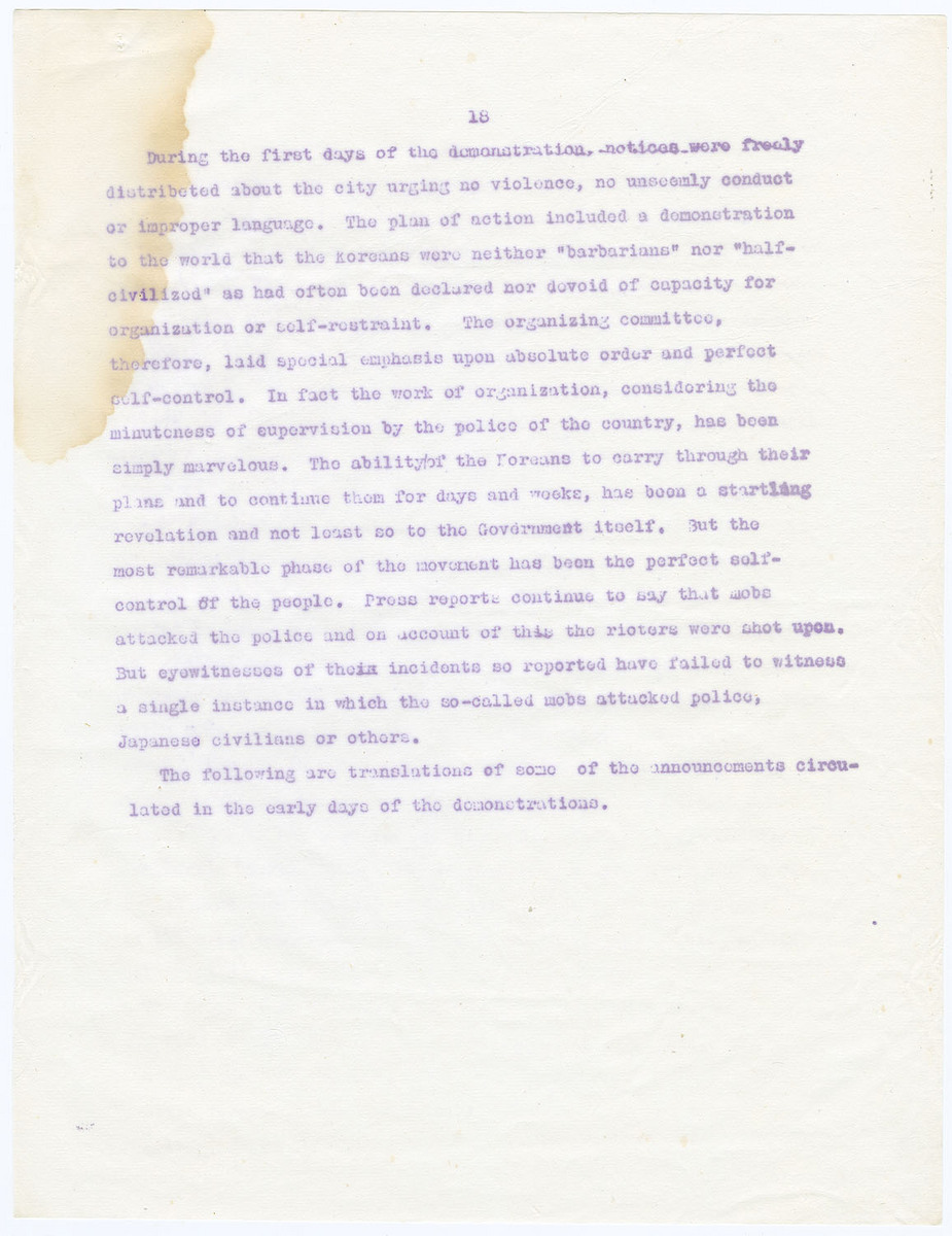 Following are translations of some of the announcements circulated in the early days of the demonstrations, (page 18)