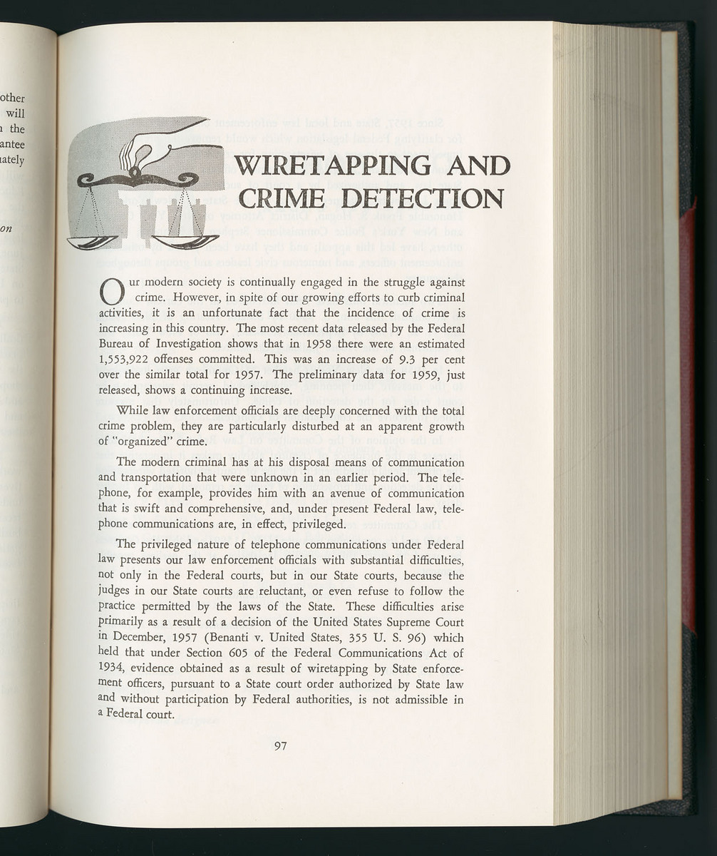 Wiretapping and Crime Detection