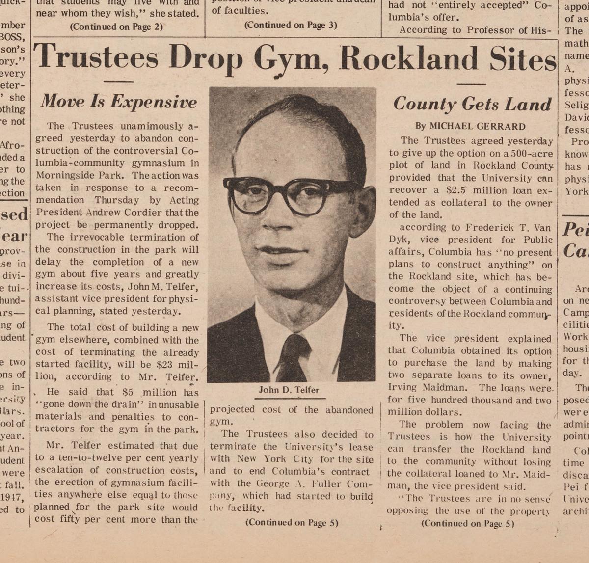 """""""Trustees Drop Gym, Rockland Sites"""""""