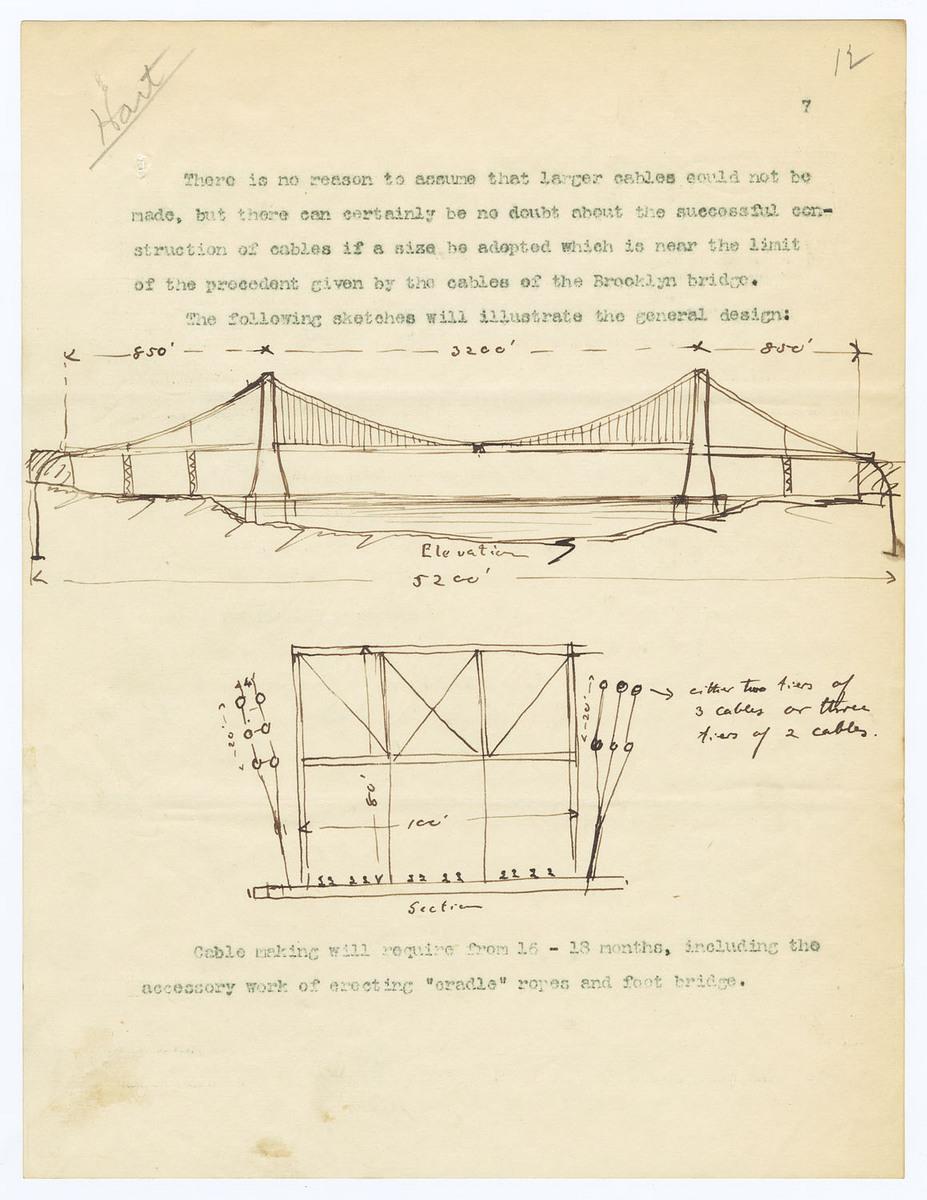 North River Bridge Sketch