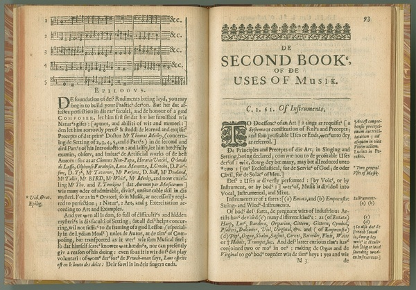 Principles of Musik, in Singing and Setting : vvith the Two-Fold Use Therof, Ecclesiasticall and Civil