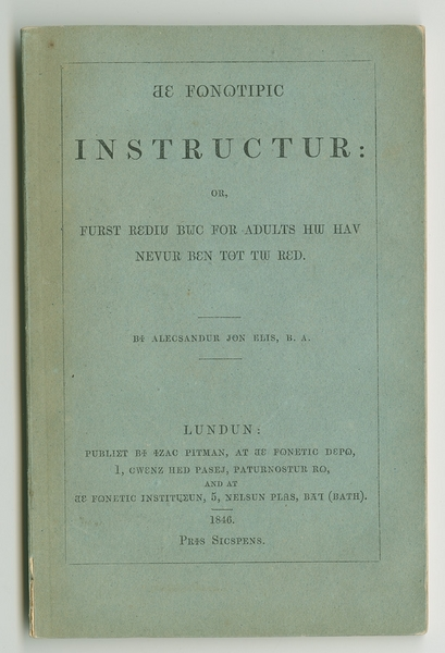 Fonotipic instructur, or, Furst rediu buc for adults hw hav nevur ben tot tw red