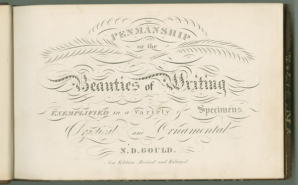 Penmanship, or, The Beauties of Writing Exemplified in a Variety of Specimens, Practical and Ornamental