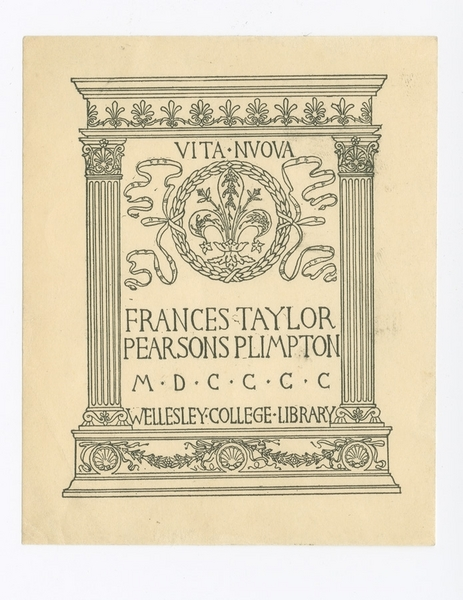 Wellesley College Library Bookplate