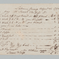 Receipt of Isaac Terboss, Lebanon Springs Bathhouse, front