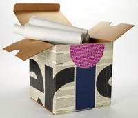 Documenta; the Paolo Soleri retrospective. View of case open
