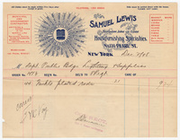 Samuel Lewis, bill or receipt