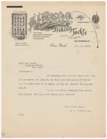 H. J. Frost & Co., letter