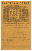 Lovejoy's Hotel. Envelope