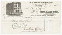 Brown, Harris & Hopkins, bill or receipt