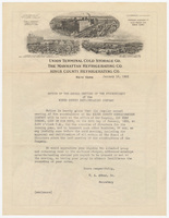 Kings County Refrigerating Co. Letter