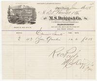 M.S. Driggs & Co., bill or receipt