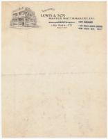 Lewis & Son, letter