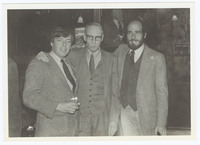William S. Burroughs with David Prentice (left), and Stewart Meyer (right)