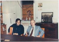 Louis Cartwright (left) and William S. Burroughs